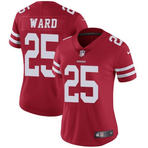 Women's 49ers #25 Jimmie Ward Red Team Color Stitched NFL Vapor Untouchable Limited Jersey