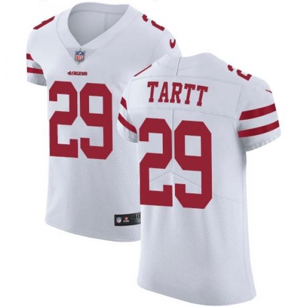 Nike 49ers #29 Jaquiski Tartt White Men's Stitched NFL Vapor Untouchable Elite Jersey