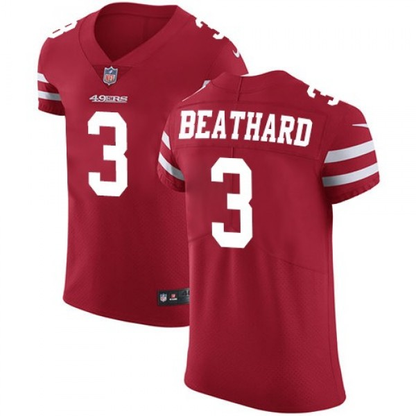 Nike 49ers #3 C.J. Beathard Red Team Color Men's Stitched NFL Vapor Untouchable Elite Jersey