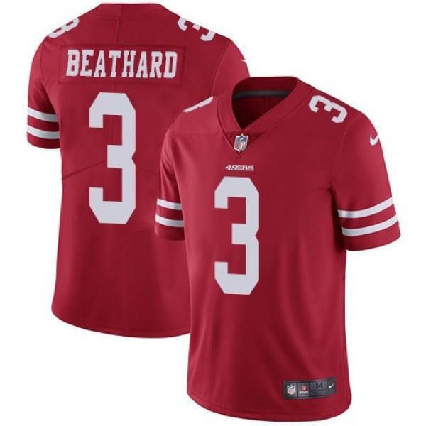 Nike 49ers #3 C.J. Beathard Red Team Color Men's Stitched NFL Vapor Untouchable Limited Jersey