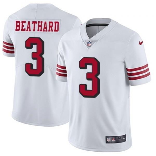 Nike 49ers #3 C.J. Beathard White Rush Men's Stitched NFL Vapor Untouchable Limited Jersey