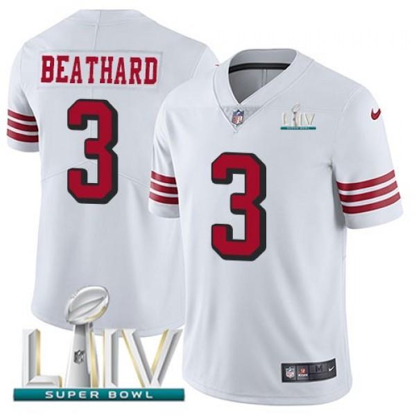 Nike 49ers #3 C.J. Beathard White Super Bowl LIV 2020 Rush Men's Stitched NFL Vapor Untouchable Limited Jersey