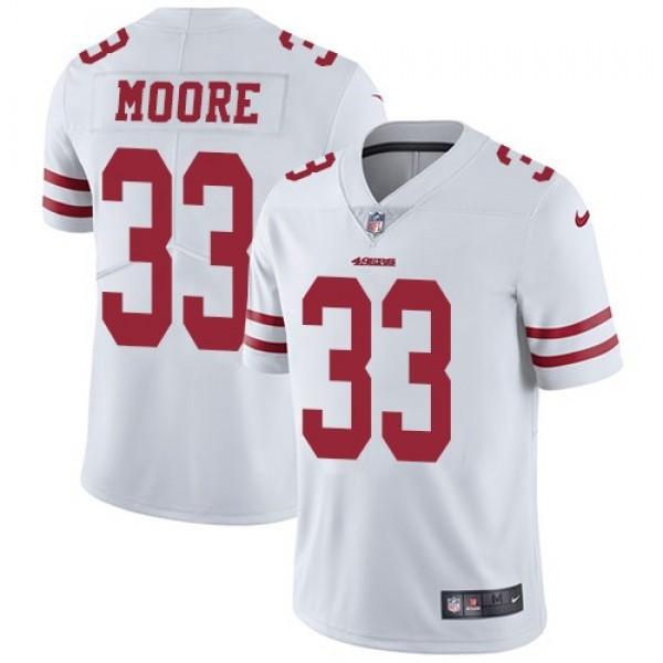 Nike 49ers #33 Tarvarius Moore White Men's Stitched NFL Vapor Untouchable Limited Jersey