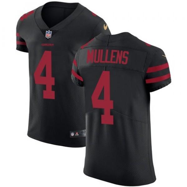 Nike 49ers #4 Nick Mullens Black Alternate Men's Stitched NFL Vapor Untouchable Elite Jersey