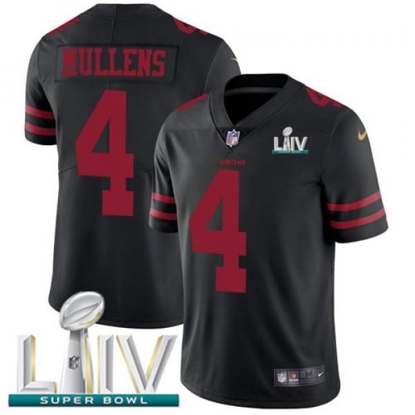 Nike 49ers #4 Nick Mullens Black Super Bowl LIV 2020 Alternate Men's Stitched NFL Vapor Untouchable Limited Jersey