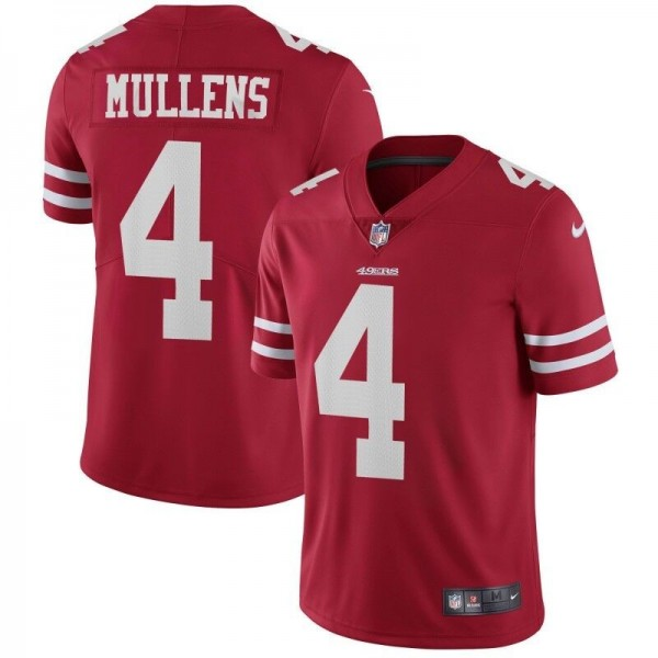 Nike 49ers #4 Nick Mullens Red Team Color Men's Stitched NFL Vapor Untouchable Limited Jersey
