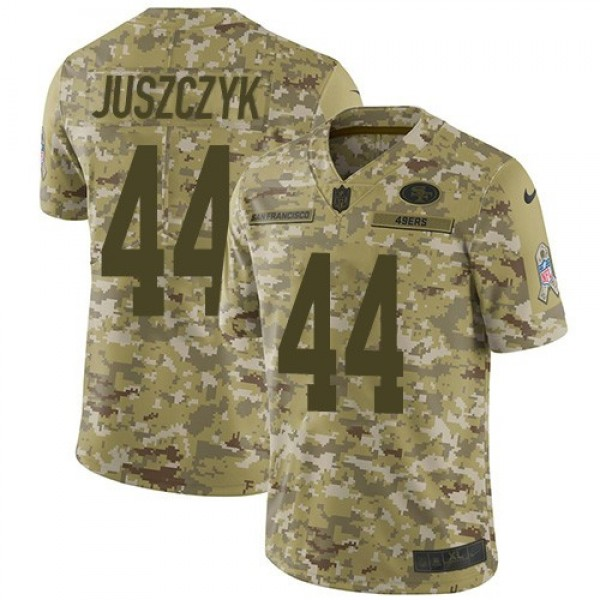 Nike 49ers #44 Kyle Juszczyk Camo Men's Stitched NFL Limited 2018 Salute To Service Jersey