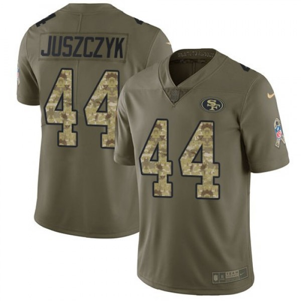 Nike 49ers #44 Kyle Juszczyk Olive/Camo Men's Stitched NFL Limited 2017 Salute To Service Jersey