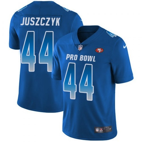 Women's 49ers #44 Kyle Juszczyk Royal Stitched NFL Limited NFC 2018 Pro Bowl Jersey