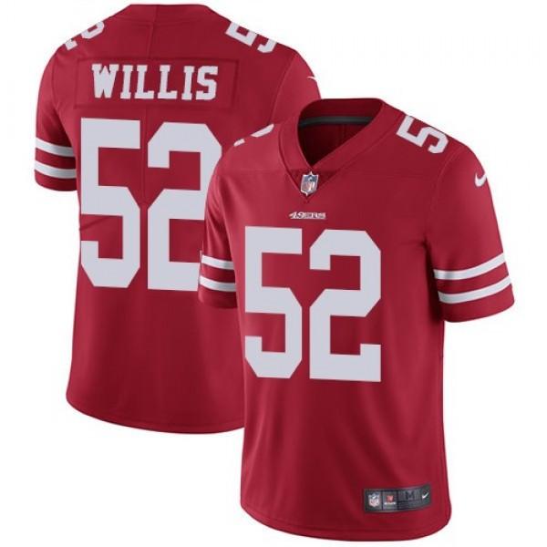 Nike 49ers #52 Patrick Willis Red Team Color Men's Stitched NFL Vapor Untouchable Limited Jersey
