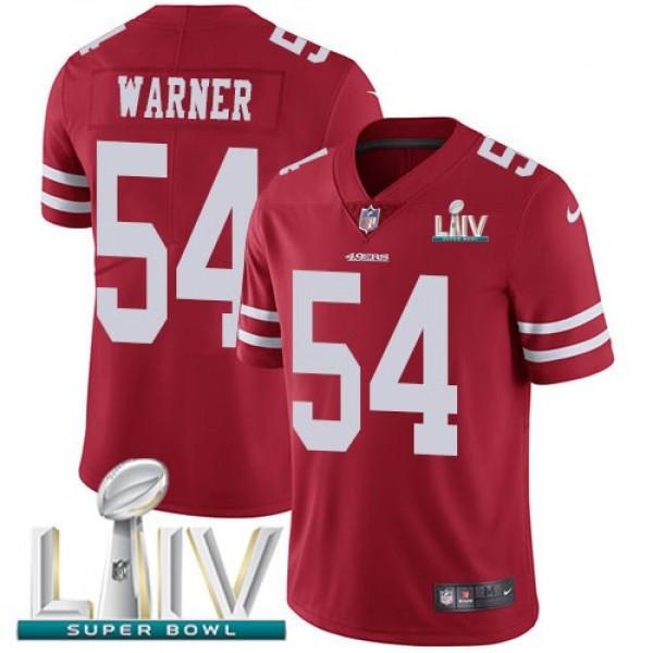 Nike 49ers #54 Fred Warner Red Super Bowl LIV 2020 Team Color Men's Stitched NFL Vapor Untouchable Limited Jersey