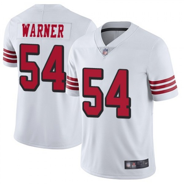 Nike 49ers #54 Fred Warner White Rush Men's Stitched NFL Vapor Untouchable Limited Jersey