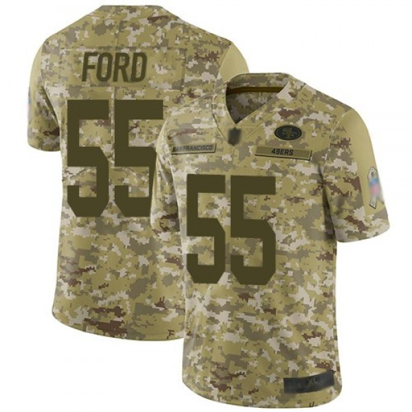 Nike 49ers #55 Dee Ford Camo Men's Stitched NFL Limited 2018 Salute To Service Jersey