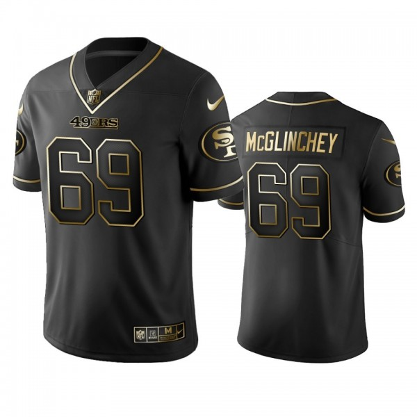 Nike 49ers #69 Mike Mcglinchey Black Golden Limited Edition Stitched NFL Jersey