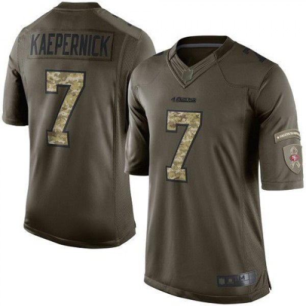 Nike 49ers #7 Colin Kaepernick Green Men's Stitched NFL Limited 2015 Salute To Service Jersey