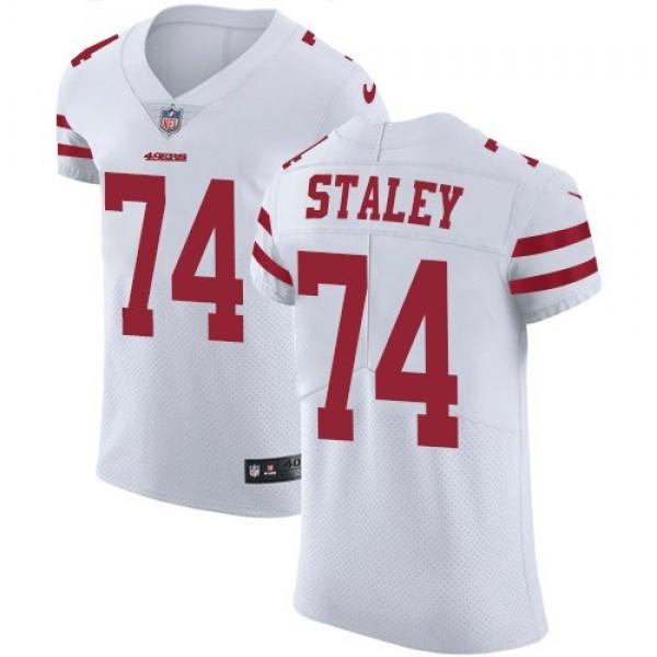 Nike 49ers #74 Joe Staley White Men's Stitched NFL Vapor Untouchable Elite Jersey