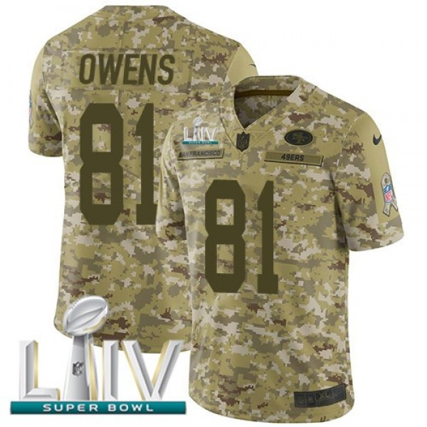 Nike 49ers #81 Jordan Matthews Camo Super Bowl LIV 2020 Men's Stitched NFL Limited 2018 Salute To Service Jersey