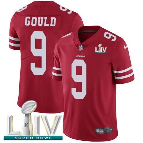 Nike 49ers #9 Robbie Gould Red Super Bowl LIV 2020 Team Color Men's Stitched NFL Vapor Untouchable Limited Jersey