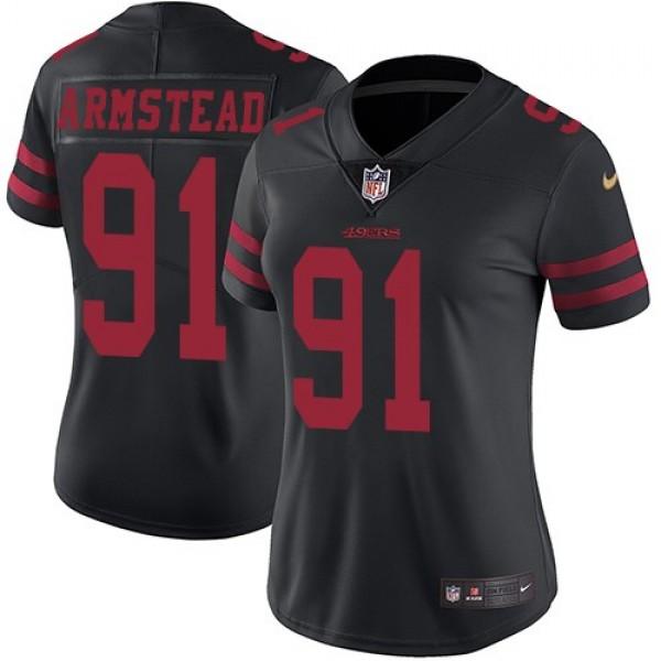 Women's 49ers #91 Arik Armstead Black Alternate Stitched NFL Vapor Untouchable Limited Jersey