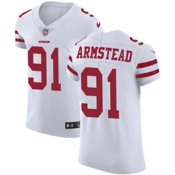 Nike 49ers #91 Arik Armstead White Men's Stitched NFL Vapor Untouchable Elite Jersey