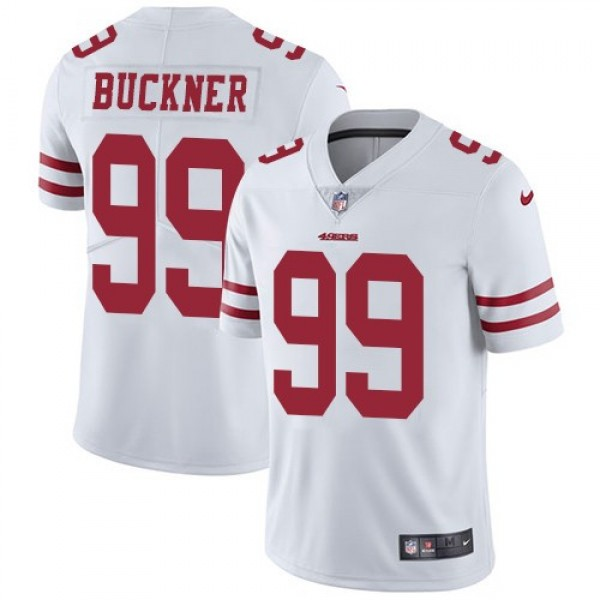 Nike 49ers #99 DeForest Buckner White Men's Stitched NFL Vapor Untouchable Limited Jersey