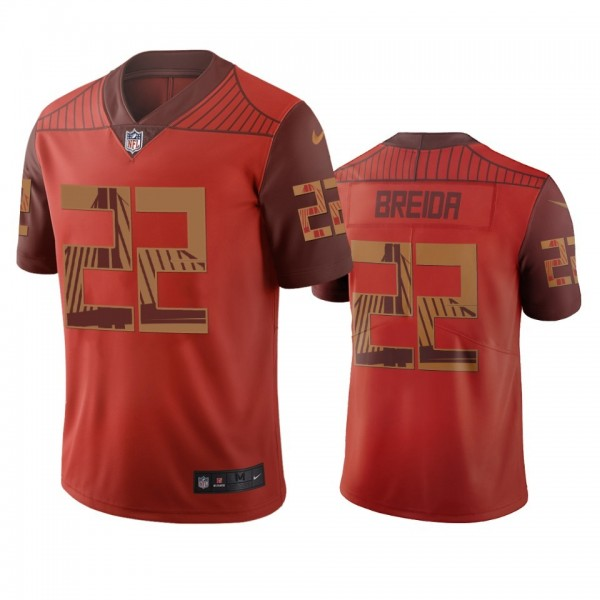 San Francisco 49ers #22 Matt Breida Orange Vapor Limited City Edition NFL Jersey