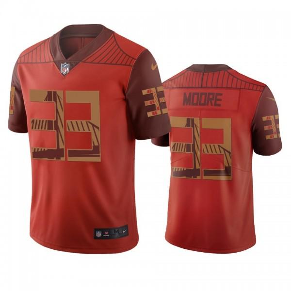 San Francisco 49ers #33 Tarvarius Moore Orange Vapor Limited City Edition NFL Jersey