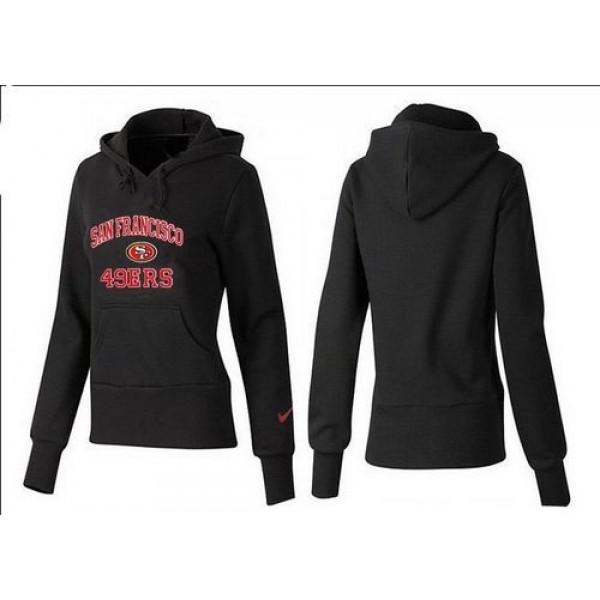 Women's San Francisco 49ers Heart Soul Pullover Hoodie Black Jersey