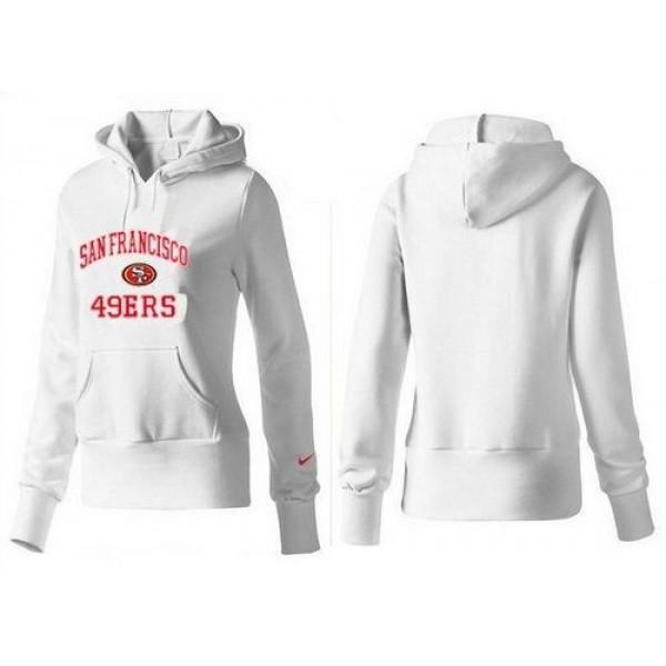 Women's San Francisco 49ers Heart Soul Pullover Hoodie White Jersey