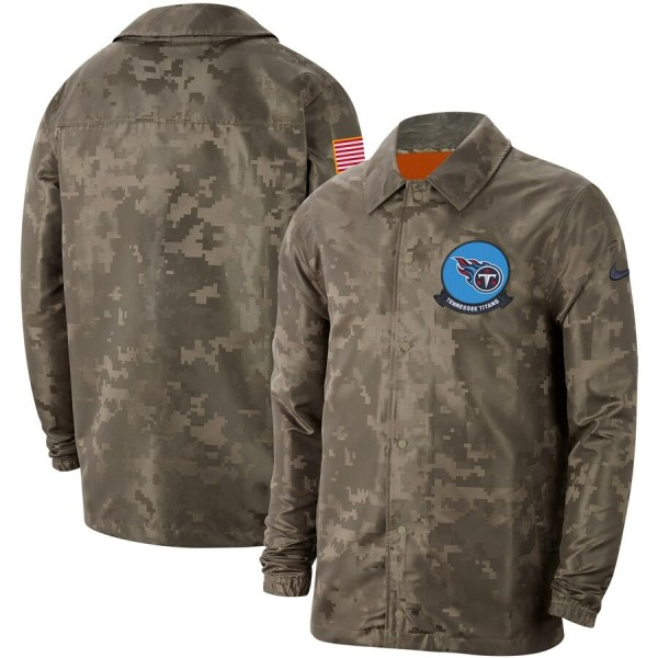 Men's Tennessee Titans Nike Camo 2019 Salute to Service Sideline Full-Zip Lightweight Jacket