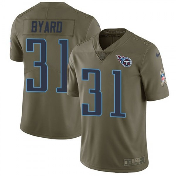Nike Titans #31 Kevin Byard Olive Men's Stitched NFL Limited 2017 Salute To Service Jersey