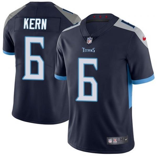 Nike Titans #6 Brett Kern Navy Blue Team Color Men's Stitched NFL Vapor Untouchable Limited Jersey
