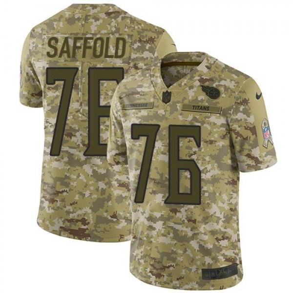 Nike Titans  #76 Rodger Saffold Camo Men's Stitched NFL Limited 2018 Salute To Service Jersey